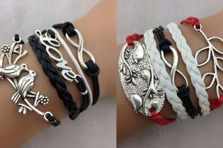 Set of Two Trendy Infinity Charm Bracelets for R179 Including Delivery (40% Off)