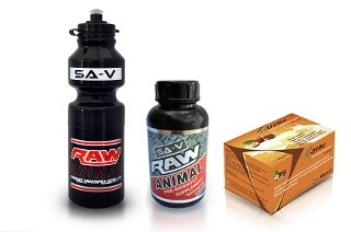 Raw Animal Capsules, Water Bottle and Whey Protein Meal Replacement from R198.93 Including Delivery (Up to 58% Off)