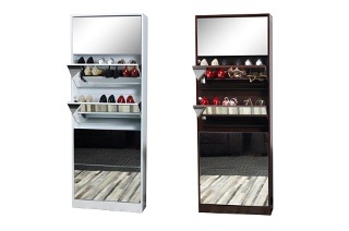 Mirrored Shoe Cabinet for R2 249 Including Delivery (38% Off)