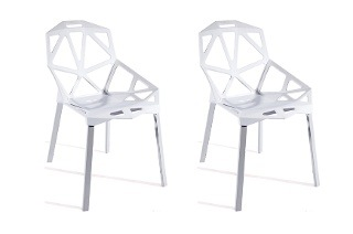 Set of White Designer Chairs for R1 595 Including Delivery (18% Off)