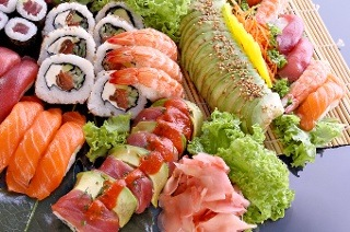 Starter and Sushi Platter from R175 at Minato Sushi Restaurant