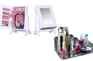 Fine living Jewellery Cabinet and Round Cosmetic Organiser for R369 Including Delivery (38% Off)