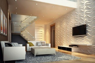 Paintable 3D Wall Panel Tiles for R789 Including Delivery (39% Off)