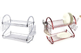 Fine Living Two-Tier Dish Rack for R299 Including Delivery (40% Off)