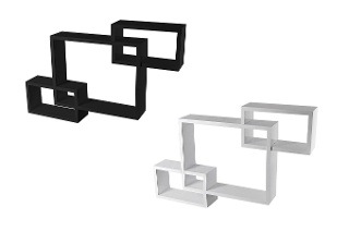 Fine Living Three-Piece Wooden Cube Wall Shelf for R419 Including Delivery (40% Off)