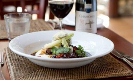 Three-Course Meal for Two for R399 at Reuben Riffel's Racine Restaurant