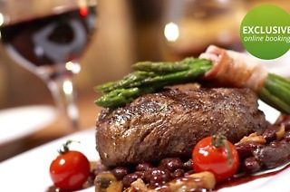 300g Sirloin or Rump with a Glass of Wine from R245 at Butcher Block (Up to 42% Off)