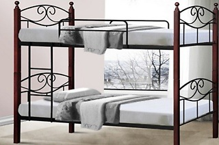 Metal Framed Bunk Bed with Wooden Posts for R2 499 Including Delivery (38% Off)