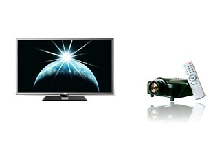 JVC 65 Full HD 3D Panel TV and Home Cinema LED Projector for R14 999 Including Delivery (50% Off)