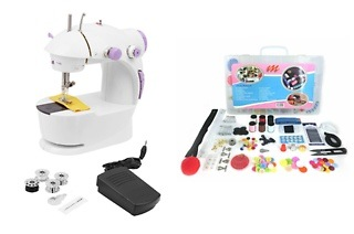 Mini Sewing Machine and 228-Piece Sewing Kitfor R499 Including Delivery (50% Off)