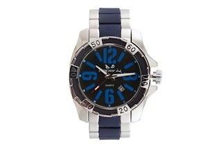 Bad Boy Silver and Navy Tank Men's Watch for R349 Including Delivery (42% Off)