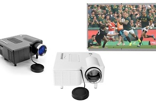 Mini Multimedia Portable Projector and Projector Screen from R899 Including Delivery (40% Off)