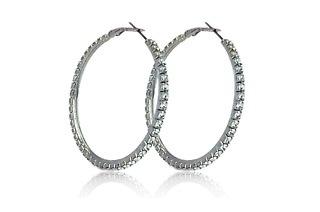 Crystal Hoop Earrings Made with Swarovski Elements for R269 Including Delivery (59% Off)