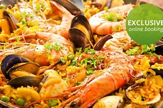 Deluxe Seafood Paella for Two for R170 at VickyCristina's Florida Road (39% Off)