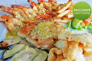 Fisherman's Platter or Seafood Feast from R186 at Surfside Restaurant (50% Off)