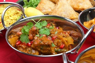Samoosa Starter and an Oriental Curry Main for Two People for R103 at Swaadisht Foods (37% Off)