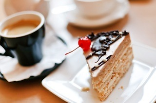 Deluxe Cake Slice and Specialty Cappuccino for Two for R87 at Continental Butcher, Baker, Deli (42% Off)