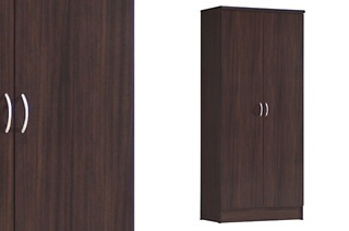 Two-Door Chocolate Wardrobe for R1 199 Including Delivery (40% Off)