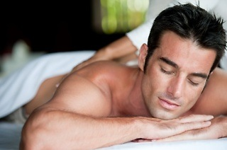 Men's Back, Neck and Shoulder Massage with Exfoliation and Optional Foot Scrub from R72 at English Rose (Up to 64% Off)
