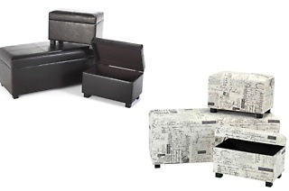 Three - Piece Ottoman Set for R1 899 Including Delivery (37% Off)