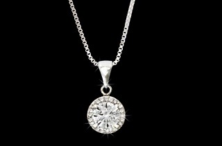 Silver - Plated Clear Cubic Zirconia Chain and Pendant Set for R289 Including Delivery (28% Off)