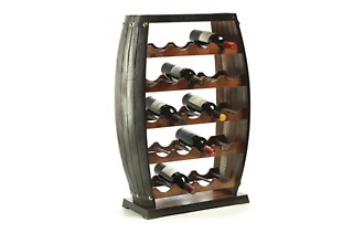 Barrel Style Wooden Wine Rack from R1 099 Including Delivery (35% Off)