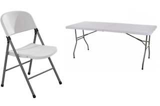 Folding Trestle Table or Four Folding Chairs from R479 Including Delivery (Up to 52% Off)