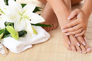 Manicure and Pedicure with Medi Heel from R99 at Vintage Rose Spa @ De Oude Caab Guest House (Up to 80% Off)