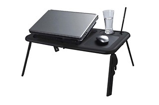 Fine Living Black E-table Laptop Stand from R229 Including Delivery (Up to 44% Off)
