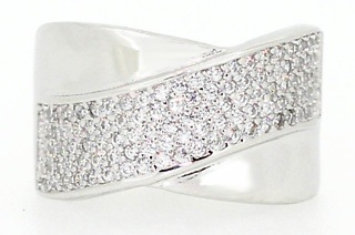 Ladies Sterling Silver Ring with Cubic Zirconias for R329 Including Delivery (67% Off)
