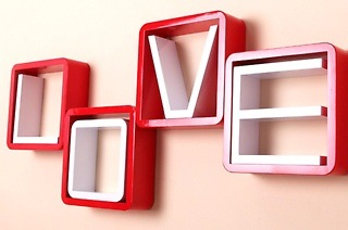 Fine Living Love-Letter Wall Shelf for R599 Including Delivery (40% Off)