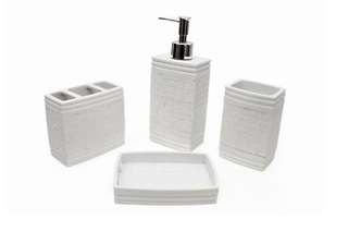 Four-Piece White Bathroom Set for R349 Including Delivery (22% Off)