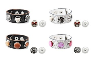 Genuine Leather Bracelets with Interchangeable Snap Buttons for R269 Including Delivery and Gift packaging (34%Off)
