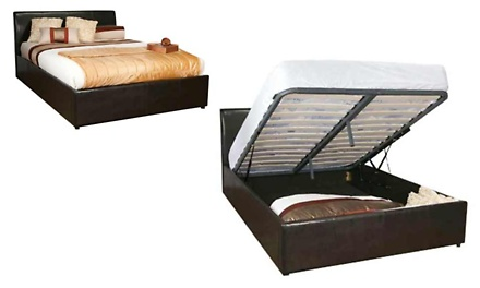 Hazlo Faux Leather Bed Base with Ottoman Storage from R2695 Including Delivery (50% Off)