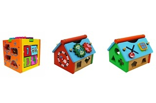 Abacus Block and Wooden Clock House from R199 Including Delivery (Up to 31% Off)