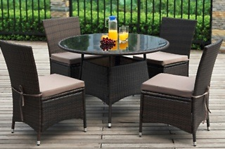 Marcella Five-Piece Patio Rattan Garden Dining Set for R4 499 Including Delivery (55% Off)