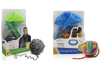 Trendy Hat or Scarf Knitting Loom Kit from R249 Including Delivery (Up to 28% Off)
