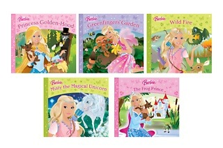 Set of Five Sparkly Barbie Books for R249 Including Delivery (34% Off)