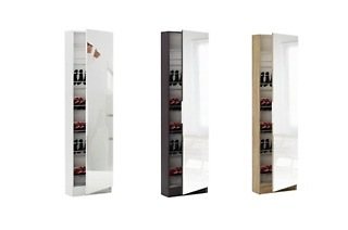 Five Shelf Shoe Storage Cabinet with Full Length Mirror from R999 Including Delivery (Up to 72% Off)
