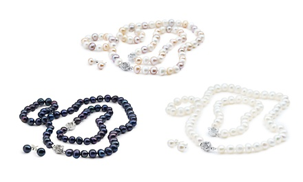 Zenzhu Freshwater Semi-Baroque Pearl Set for R149 Including Delivery (79% Off)