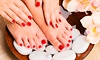 Express Manicure or Pedicure from R77 with Optional Luxio Gel at Murcia's on Marriott (Up to 75% Off)