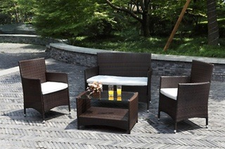Atlantis 4-Piece Wicker Patio Outdoor Living Set for R3 499 Including Delivery (56% Off)