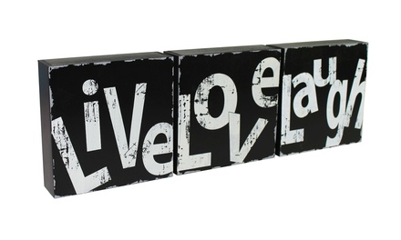 Live, Love, Laugh Decoration Set for R229 Including Delivery (30% Off)