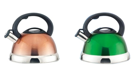 Funky Coloured Stainless Steel Whistling Kettles for R259 Including Delivery (48% Off)