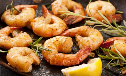 Three-Course Prawn Platter for Two for R210 at Mykonos Restaurant