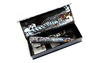 HerStyler Black Tattoo-Print Hair Straightener for R599 Including Delivery (54% Off)