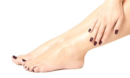 Express Manicure or Pedicure with Gel Overlay from R79 at Lashed and Polished (Up to 65% Off)