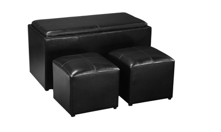 Dealzone 62 Discount Deal In South Africa Three Piece Pu Leather Convertible Coffee Table