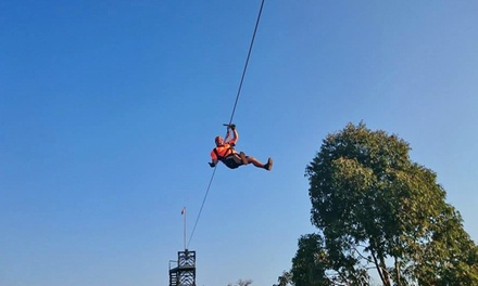 Extreme Zipline Experience and Braai from R615 for Two at Adventure Zone Cullinan (Up to 53% Off)