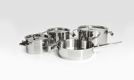 Carrol Boyes Seven-Piece Stainless Steel Pot Set for R2 599 Including Delivery (28% Off)